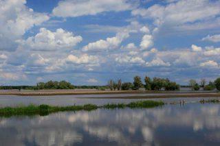 Die überschwemmten Havelwiesen bei der zweiten Jahrhundertflut 2013