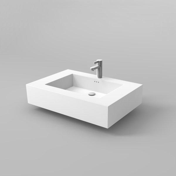 Mineralwerkstoff Waschtisch Waschtisch Kiebitzberg Square I aus Hi-Macs