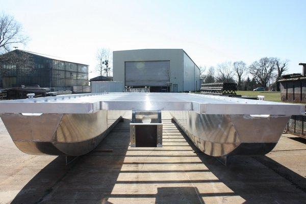 aluminium plattform pontom empor 12 0 x 3 0 kiebitzberg. Black Bedroom Furniture Sets. Home Design Ideas