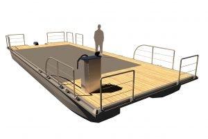 PonTOM Adventure 12 4 5 Hausboot Plattform