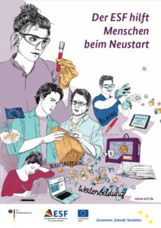 ESF Foerderung Digitalisierung Plakat Kiebitzberg